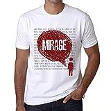 Photo de Homme T Shirt Graphique Imprimé Vintage Tee Thoughts Mirage Blanc par One in the City