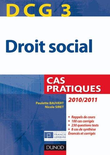 Droit social DCG 3 : Cas pratique