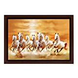 #7: Delight White Horse Painting