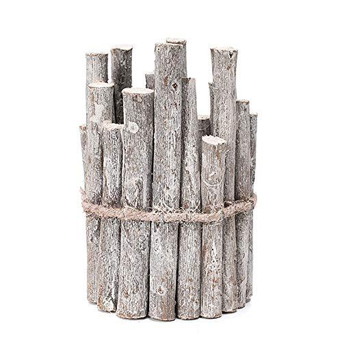 JLCP Weihnachtskerzenhalter, Retro Kerze Röhrenfeder Halter Home Dekorative Ornamente Hochzeit Kamin Esstisch Holz Handwerk Geschenke