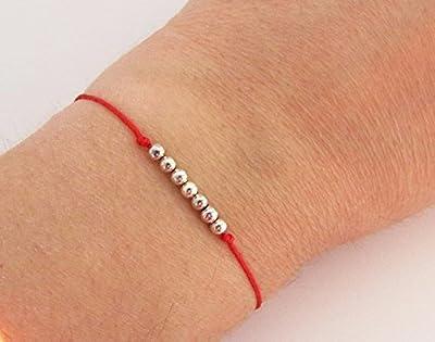 Bracelet Kabbale/kabbalah bracelet/fil rouge et 7 perles/bracelet rouge - Création d'Eclat