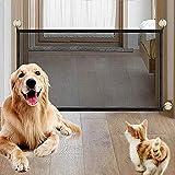 NIBESSER Magic Gate Schutzgitter Haustiere, Portable Hund Safe Guard, Pet Sicherheit Tor Mesh Pet...