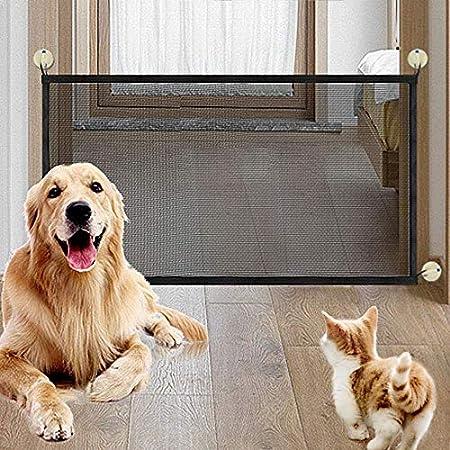 NIBESSER Magic Gate Schutzgitter Haustiere, Portable Hund Safe Guard, Pet Sicherheit Tor Mesh Pet Katze Hund Isolierte Zäune Gaze Treppenschutzgitter