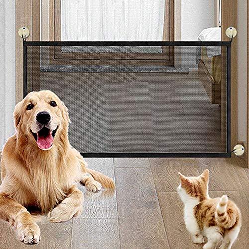 NIBESSER Magic Gate Schutzgitter Haustiere, Portable Hund Safe Guard, Pet Sicherheit Tor Mesh Pet Katze Hund Isolierte Zäune Gaze Treppenschutzgitter -