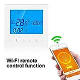 Asixx Termostato, Termostato Digital WiFi, con Pantalla LCD, Control Remoto Wi-Fi, para Controlar La Temperatura del Hogar