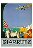 affiche poster biarritz aéropostale reproduction affiche poster-format size 50X70 cm-papier luxe 300 g-tous formats possibles nous consulter-vente du fichier numérique possible nous consulter