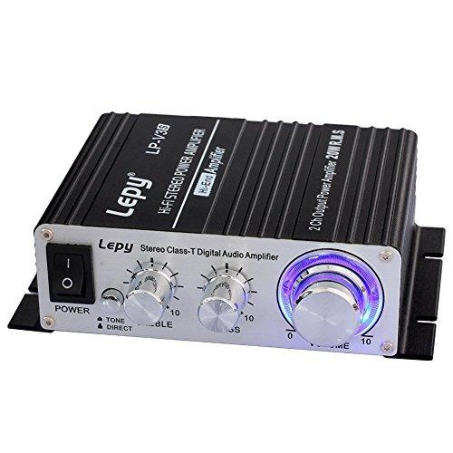 Lepy LP-V3s Piccolo Amplificatore HiFi per Auto,PC, casa Corrente DC12V