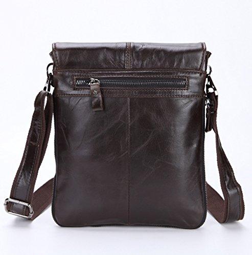 Männer Retro-Multi Dauerhaftes Weiches Business Casual Aktentasche Flach Crossover-Bag Multicolor Brown1
