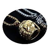 Die besten Bishilin Freunde Halskette für Jungen - Bishilin Herren Halskette Gold Anhänger Totenkopf Edelstahl Kette Bewertungen