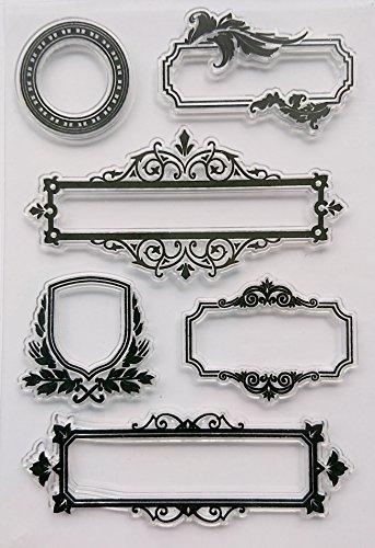 Stempel Set Clear Stamp transparent in verschiedenen Motiven (Rahmen) (Rahmen Clear Stempel-set)