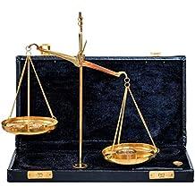 Balanza de farmacia latón balanza para oroestilo estuche antiguo