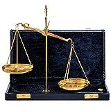 Bilancia ottone bilancetta di precisione bilancia dell'orafo 22cm stile antico