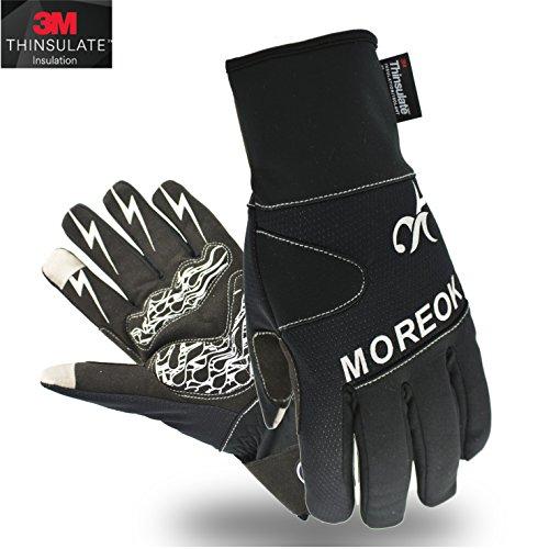 Touchscreen Handschuhe Winter Fahrradhandschuhe Mit 3M Thinsulate ™ Insulation Warmes Material,Warm Winddicht ,wasserdicht Skihandschuhe Winterhandschuhe für Ski,Motorrad,Fahrradfahren, Reiten, USW. (L, 3M-Schwarz)