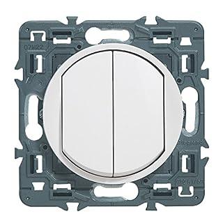 Legrand 099721 Céliane Soft - Double interrupteur ou va et vient - 10 AX, 250 V - Blanc - 099721