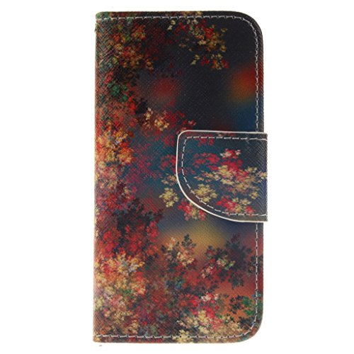 Nutbro iPhone SE Case, iPhone 5/5s/SE Wallet Case, with Built-in Credit Card Slots Wallet Case Flip Cover for iPhone 5/5s/S ZZ-iPhone-5S-44