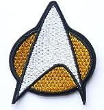 STAR TREK Federation Star Fleet Emblem Iron / Sew On Embroidered Patch Art & Craft
