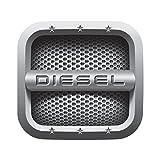 #5: CVANU® Grey [Diesel] Car Fuel Lid Decal /Sticker Printed (12Cm) For Maruti Suzuki Vitara Brezza