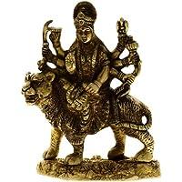 Statua religiosa indù Goddess Durga, realizzati in ottone 10,16 x 5.08 x 12,7 cm
