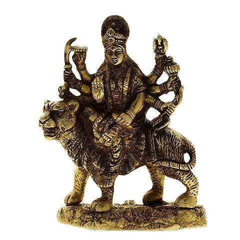 Durga Hindu Goddess Religious Statue Brass (Religioso Giardino Statua)