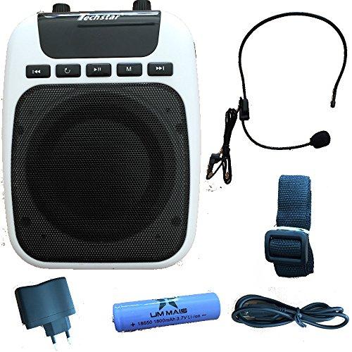 Dobo® amplificatore megafono vocale altoparlante con microfono ad archetto per guida turistica insegnante e venditore con funzione radio fm ingresso usb micro sd/tf e jack - colore spedito secondo disponibilità