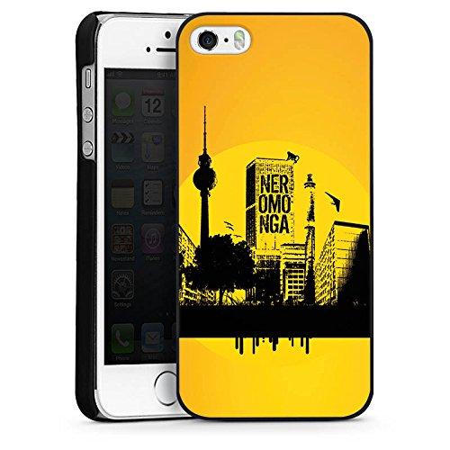 Apple iPhone 5s Housse Étui Protection Coque Berlin Ville Tour de télévision CasDur noir