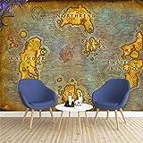 Zhcmy Peinture Murale 3D Ancienne Carte Européenne Jeu en Ligne World of Warcraft Fond D'Écran, 430Cm * 300Cm...