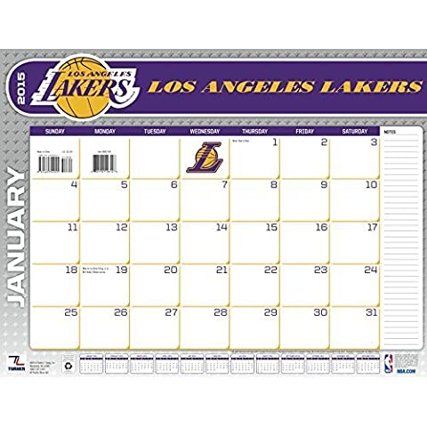 Turner Perfect Timing 2015 Los Angeles Lakers Desk Calendar, 22 x 17 Inches (8061434) by Lang Holdings, Inc.