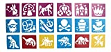 18 Painting Stencil Templates Fantasy - Pirate - Fairy Princess - Dinosaur For Kids Crafts