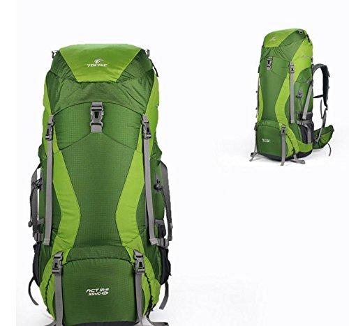 Sport outdoor zaino spalla zaini nuovi nylon 45 + 10L 55 + 10L 65 + 10L aggiornamenti , red 45+10; green 45+10l