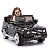 mecor 12V Kids Battery Power W/ Wheels Suspension Ride On Car Electric Motorized Mercedes Benz AMG G55 SUV Luxury Model Featured Shiny Baked Paint, Leather Seat, Eva Wheels, Lights, AUX in&Music