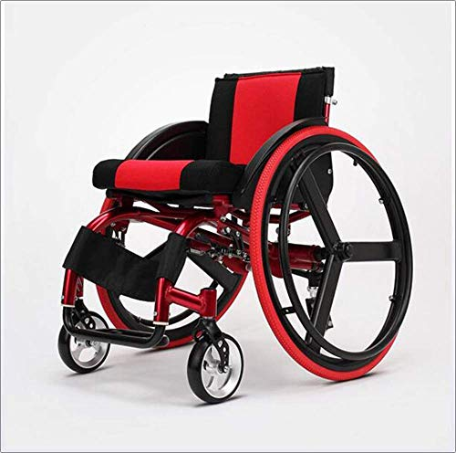 zdw Sport und Freizeit Rollstuhl Folding Lampe tragbare Ultra Light Aluminiumlegierung Schnellspanner Hinterrad Stoßdämpfer Trolley Behinderte Ältere Driving Medical