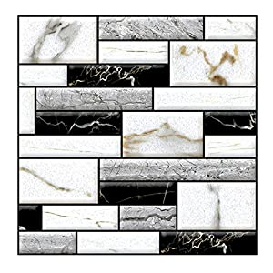 Dtuta 3D-Styles Zum EinfüGen, Verschiedene Simulationsfliesen, Dekorative Relief-Wandaufkleber, Abnehmbar