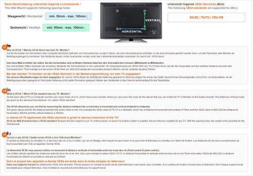 Monitor Wand-Halterung Monitor-Halterung Schwenkbar Neigbar S2311 |RICOO| Schwenkarm TFT Wandhalterung LCD LED Wandhalter fuer Flach-Bildschirm PC-Monitor 43-49-54-61-68cm / 17′ 19′ 22′ 24′ 27′ Zoll | VESA 75×75 100×100 universell passend fuer viele TV und Monitor Hersteller |Wandabstand nur 65 mm| - 5