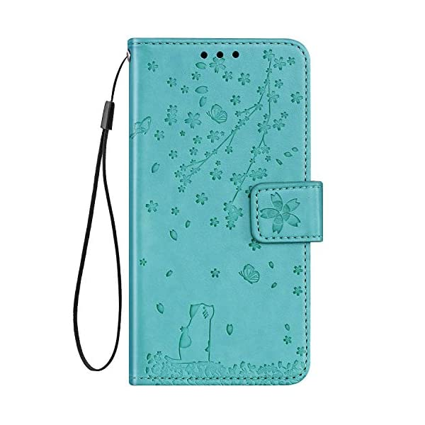 Uposao Compatible with Samsung Galaxy Note 10 Plus Case Leather Wallet Cover Cherry Flower Cat Embossed Pattern Shockproof Flip Case with Card Holders Magnetic Closure Stand Lanyard,Green Uposao Compatible Model: Samsung Galaxy Note 10 Plus Package:1 x Wallet Case Cover,1 x Black Stylus Touch Pen Provides optimal protection from everyday bumps, knocks, drops, chips, dirt, scratches and marks without adding bulk to your phone and ensures that your device remains protected, safe and secured at all times. 5