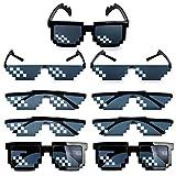 MEJOSER 9 Paires Lunettes de Soleil Pixel Thug Life Mosaïque Mode Photo Props...