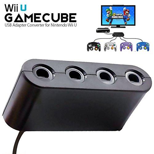ller Adapter für Nintendo Switch/Wii U/PC USB, NGC Controller Anschluss Tap Converter für Wii U Super Smash Bros, Switch, Mac OS PC Windows mit 4 Ports kein Treiber notwendig ()