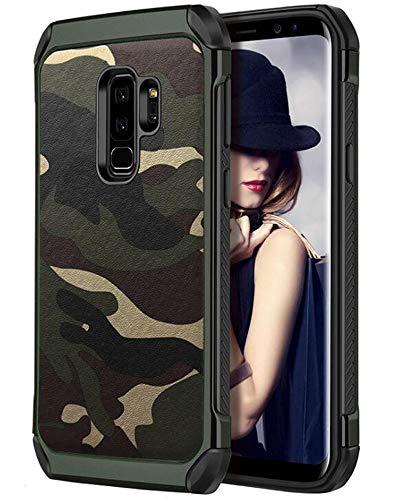 fdtcyds Galaxy S9Plus móvil, Camo Silicona TPU Bumper Hybrid Rugged Camuflaje Funda Carcasa Cover Funda para Samsung Galaxy S9Plus–Verde