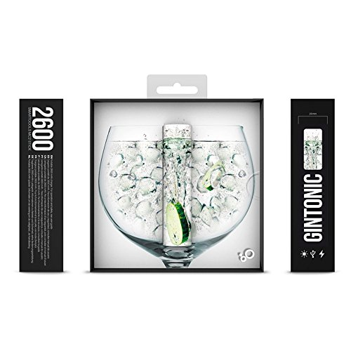 Smartoools Gin Tonic 2600mAh Verde, Color Blanco batería Externa - baterías externas (Verde, Color Blanco, Teléfono móvil, Smartphone, Teléfono, 2600 mAh, USB)