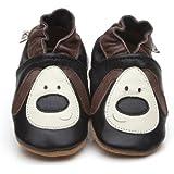 Chaussons Bébé en cuir doux - Chien - 6/12 mois