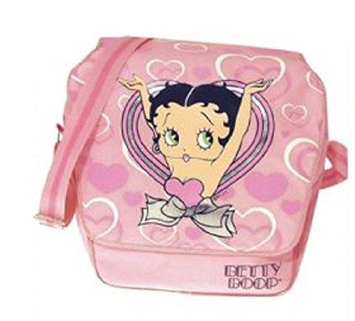 Betty Boop. Borsa messenger bag. Pink Hearts design.