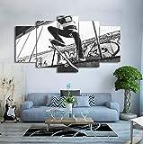 tela dipinto arte poster muro foto arredamento 5 pannello skateboard stampare su tela per la sala stampa moderna