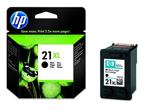 HP 21XL Schwarz Original Druckerpatrone mit hoher Reichweite für HP Deskjet 3940, D1530, D2360, D2460, F2180, F2224, F380, F4180; HP Officejet 4315, 4355, 5610, 5615; HP PSC 1410 (Deskjet Tinte D2445 Hp)