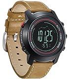 Spovan Reloj Digital Hombre Altímetro Barómetro Termómetro Sportivi Multifunzione Impermeable Cuero Orologi Militari