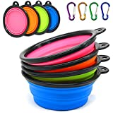 Silicone Dog Bowl 4PCS Xpassion Collapsible Portable Travel Bowls Pet Food Water Bowls