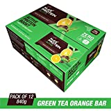 RiteBite Max Protein Active Green Tea Orange Bars 840g Pack of 12 (70g x 12)