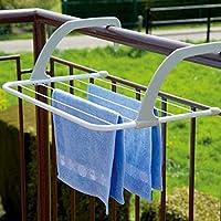 Glowick Plastic, Stainless Steel Adjustable Indoor/Outdoor Easy Folding Clothes Drying Racks Towel Shelf Stand Balcony…