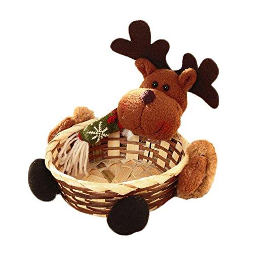 Mackur christmas basket cervo modello candy cestino casa tavolo decorazione negozio dei regali di natale 1pezzo, b, 15 x 15 cm
