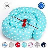 Tour de Lit Bébé Coussin Serpent Coussin - Bordure de lit bumper roll pour bordure pour bébé Nid Lit Protecteur Pour les Nouveau-nés lit 100% coton