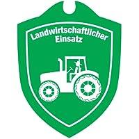 Waidmannsbruecke LANDWIRTSCHAFTLICHER Einsatz Saugnapf Autoschild mit und Ohne Länderwappen