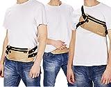 Bauchtasche Hüfttasche mit RFID-Blockierung und 2 Hüftgurten - extra flach, enganliegend und wasserabweisend - Geldgürtel zum Sport, Reisen und Joggen - VAN BEEKEN Reisegürtel, Money Belt -